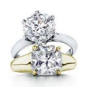 18K Solitaire Diamond Engagement Rings