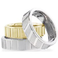 14K Diamond Cut Wedding Bands