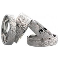 950 Platinum Antique Rings
