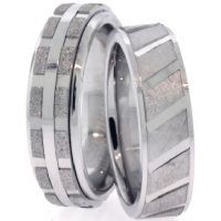 Diamond Cut Wedding Bands