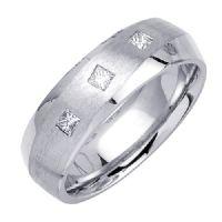 Platinum Contemporary Diamond Wedding Bands