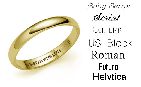 engraving something special in your engagement ring or wedding band