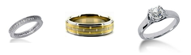 Wedding Band Metals - Wedding Rings