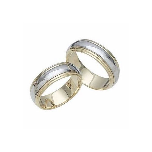 platinum and 18k gold his hers two tone gold 026 wedding