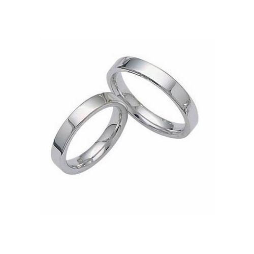 Platinum 4mm Wedding Band: 950 Platinum His & Hers 4mm Classic Wedding Band Set 004