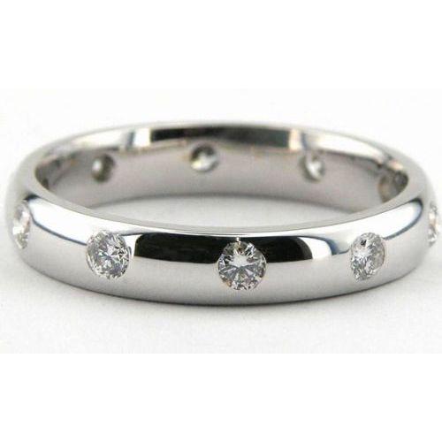 Platinum 4mm Wedding Band: 950 Platinum 4mm Diamond Wedding Bands Rings 1954