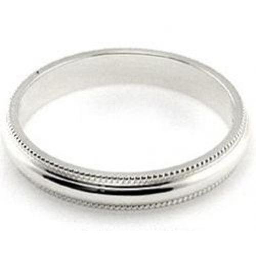 14K White Gold 3mm Milgrain Band