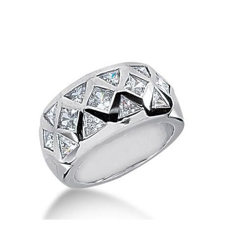 feb8008da45 950 Platinum Diamond Anniversary Wedding Ring, 8 Trillion Shaped, 5  Princess Cut Diamonds 1.65ctw 233WR1054PLT