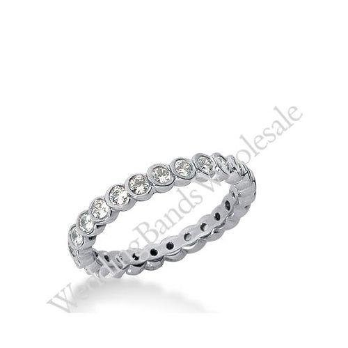 14k gold diamond eternity wedding bands bezel set 075 ct deb25814k