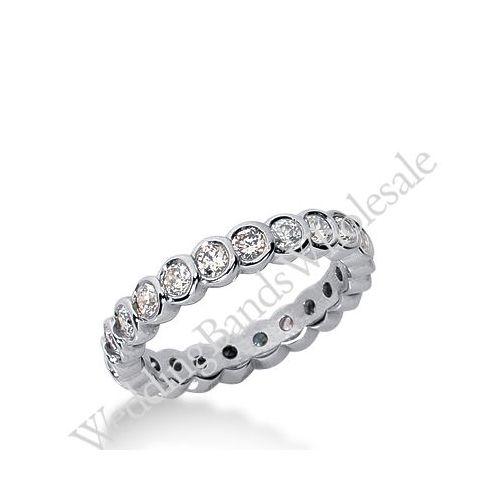 950 platinum diamond eternity wedding bands bezel set 100 ct deb259plt