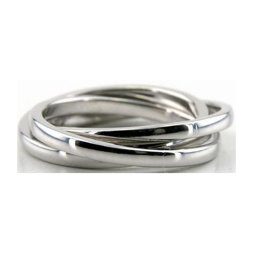 14k White Gold 55mm Handmade Wedding Band Rolling Ring Design 012