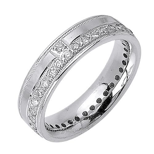 Wedding Bands Wholesale 14K Gold Round Brilliant 7mm Comfort Fit Contemporary Diamond Band 2.24ctw 1169 at Sears.com