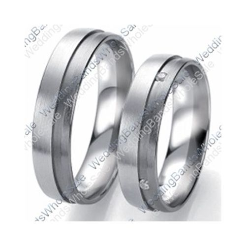 950 platinum 6mm 0 04ct his and hers wedding rings set 259
