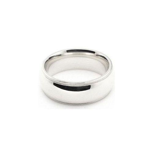 Milgrain Wedding Ring In Platinum 7mm: Platinum 950 7mm Milgrain Wedding Band Medium Weight