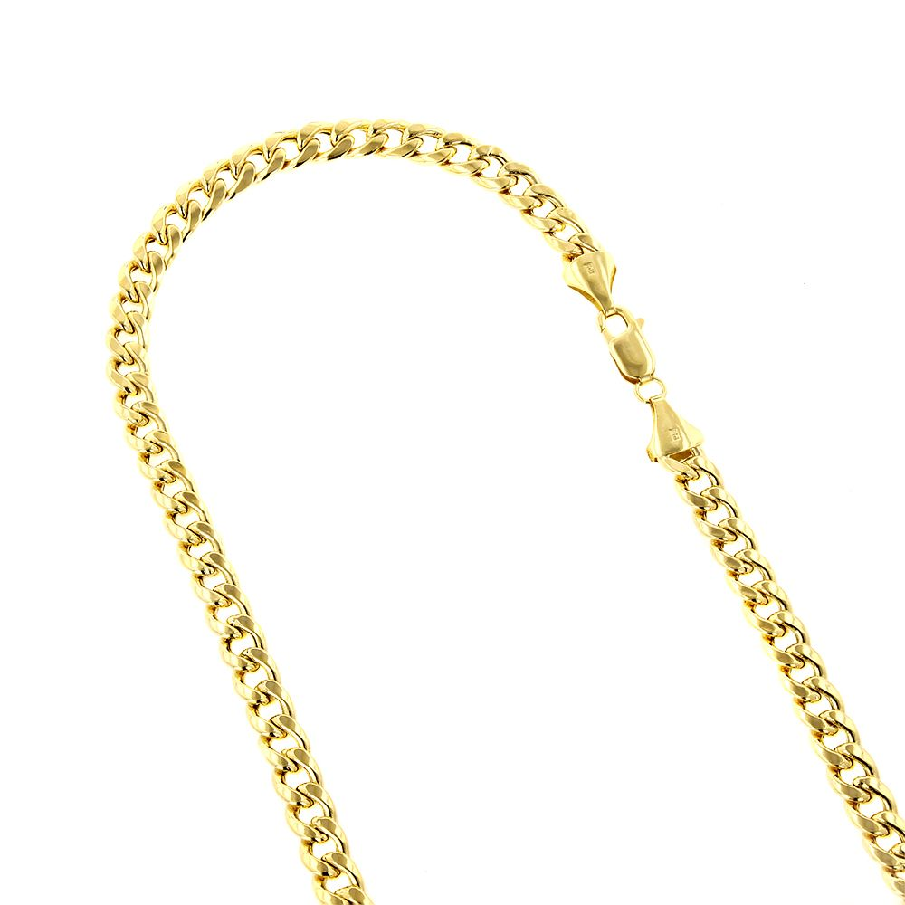10k Gold Cuban Link Chain >> 6 5mm Men S 10k Hollow Gold Cuban Link Chain