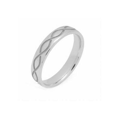 950 platinum 4mm celtic twist wedding band c4009