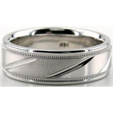 14K Gold 7mm Diamond Cut Wedding Band 683