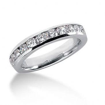 14K Gold Diamond Anniversary Wedding Ring 11 Round Brilliant Diamonds 1.10ctw 106WR40814K