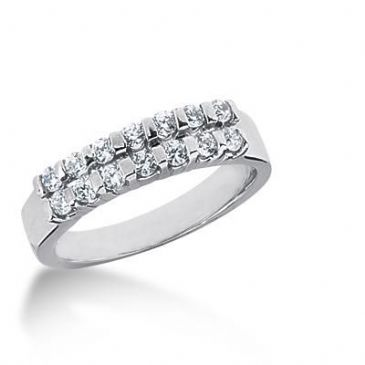 14K Gold Diamond Anniversary Wedding Ring 14 Round Brilliant Diamonds 0.42ctw 122WR126214K