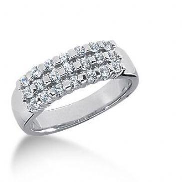 14K Gold Diamond Anniversary Wedding Ring 21 Round Brilliant Diamonds 0.53ctw 123WR126614K