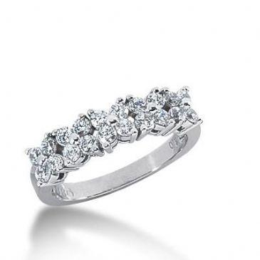 14K Gold Diamond Anniversary Wedding Ring 20 Round Brilliant Diamonds 0.60ctw 160WR26614K