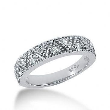 14K Gold Diamond Anniversary Wedding Ring 11 Round Brilliant Diamonds 0.22ctw 172WR57314K