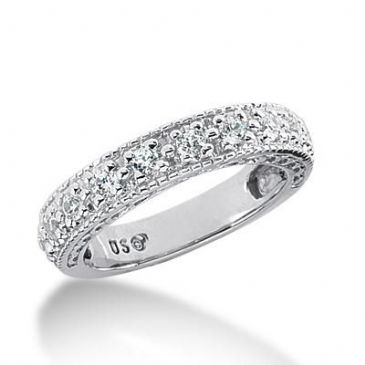 14K Gold Diamond Anniversary Wedding Ring 11 Round Brilliant Diamonds 0.55ctw 175WR145214K