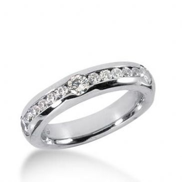 14K Gold Diamond Anniversary Wedding Ring 13 Round Brilliant Diamonds 0.75ctw 188WR122714K