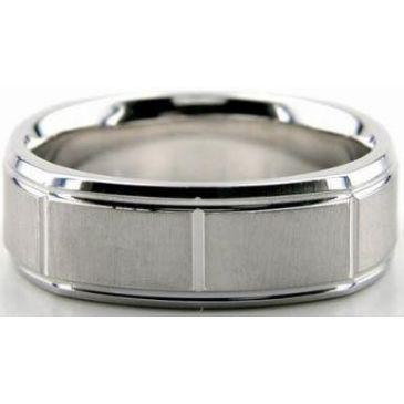 14K Gold 7mm Diamond Cut Wedding Band 603