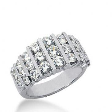 14K Gold Diamond Anniversary Wedding Ring 27 Round Brilliant Diamonds 2.19ctw 232WR105314K