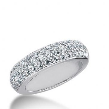 14k Gold Diamond Anniversary Wedding Ring 46 Round Brilliant Diamonds 0.60ctw 267WR113014K