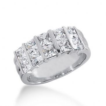 14k Gold Diamond Anniversary Wedding Ring 10 Princess Cut Diamonds 2.70ctw 275WR115114K