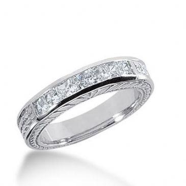 14k Gold Diamond Anniversary Wedding Ring 7 Princess Cut Diamonds 0.70ctw 283WR132714K