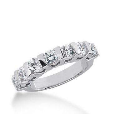 14k Gold Diamond Anniversary Wedding Ring 7 Round Brilliant Diamonds 1.05ctw 304WR135114K