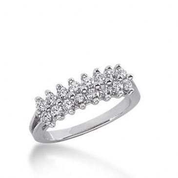 14k Gold Diamond Anniversary Wedding Ring 16 Round Brilliant Diamonds 0.48ctw 306WR135314K