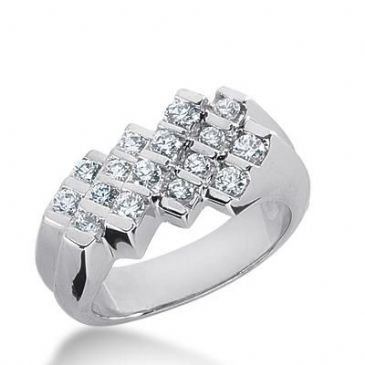 14k Gold Diamond Anniversary Wedding Ring 16 Round Brilliant Diamonds 0.80ctw 310WR135814K