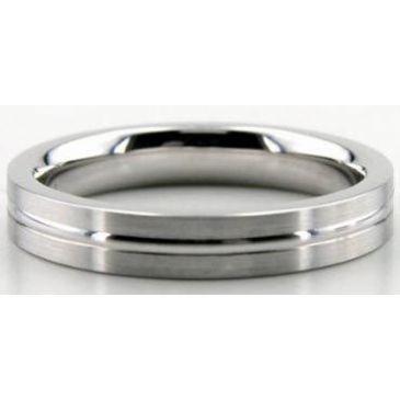 18K Gold 4mm Diamond Cut Wedding Band 643-4