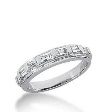 14k Gold Diamond Anniversary Wedding Ring 7 Straight Baguette Diamonds 0.56ctw 338WR148014K