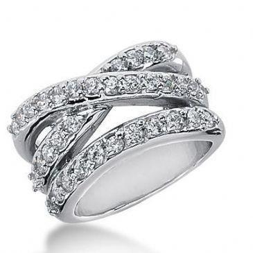 14k Gold Diamond Anniversary Wedding Ring 36 Round Brilliant Diamonds 1.48ctw 340WR148414K