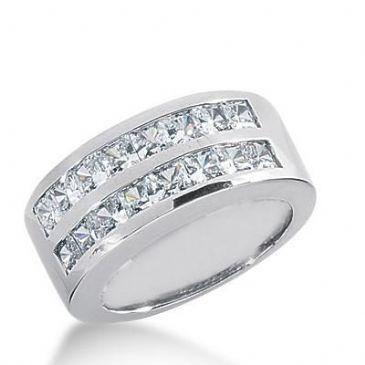 14k Gold Diamond Anniversary Wedding Ring 16 Princess Cut Diamonds 2.24ctw 356WR151214K