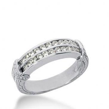 14k Gold Diamond Anniversary Wedding Ring 22 Round Brilliant Diamonds 0.66ctw 363WR152314K