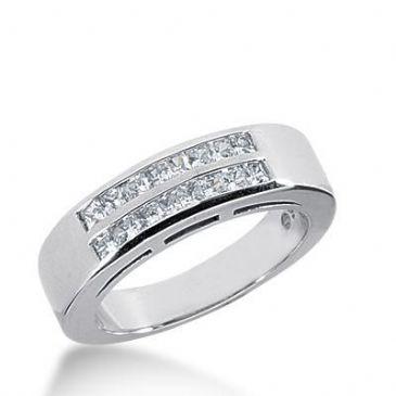 14k Gold Diamond Anniversary Wedding Ring 16 Princess Cut Diamonds 0.64ctw 370WR153114K