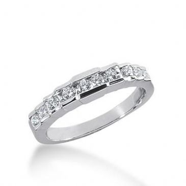 14k Gold Diamond Anniversary Wedding Ring 10 Round Brilliant Diamonds 0.32ctw 372WR155014K