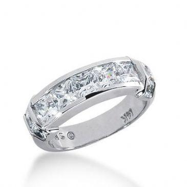 14k Gold Diamond Anniversary Wedding Ring 11 Princess Cut Diamonds 2.10ctw 375WR155914K