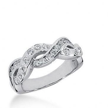 14k Gold Diamond Anniversary Wedding Ring 26 Round Brilliant Diamonds 0.65ctw 384WR157414K