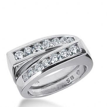 14k Gold Diamond Anniversary Wedding Ring 16 Round Brilliant Diamonds 0.92ctw 387WR157714K