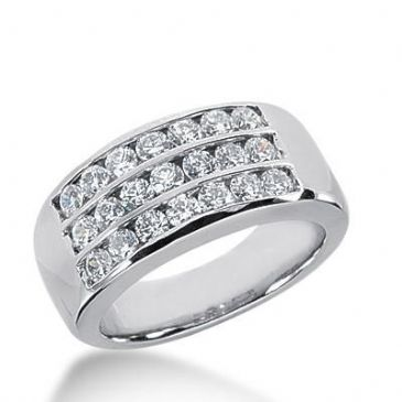 14k Gold Diamond Anniversary Wedding Ring 21 Round Brilliant Diamonds 0.83ctw 394WR164714K