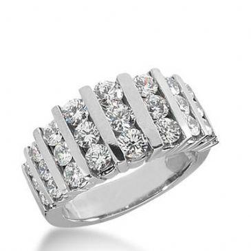 14K Gold Diamond Anniversary Wedding Ring 27 Round Brilliant Diamonds 2.01ctw 397WR165014K