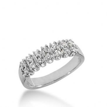 14k Gold Diamond Anniversary Wedding Ring 14 Round Brilliant Diamonds Total 0.28ctw 401WR165414K