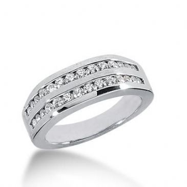 14k Gold Diamond Anniversary Wedding Ring 28 Round Brilliant Diamonds Total 0.50ctw 409WR169914K